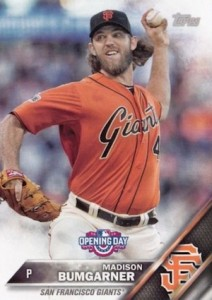 2016 Topps Opening Day Baseball Base Madison Bumgarner