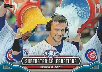 2016 Topps Opening Day Baseball Superstar Celebrations Kris Bryant