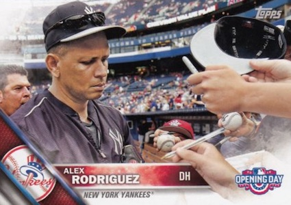 2016 Topps Opening Day Baseball Variations Alex Rodriguez