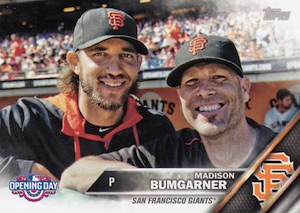 2016 Topps Opening Day Baseball Variations Madison Bumgarner
