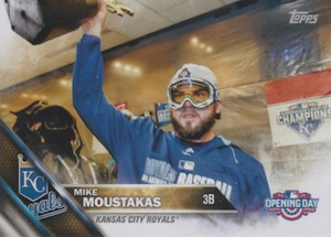 2016 Topps Opening Day Baseball Variations Moustakas
