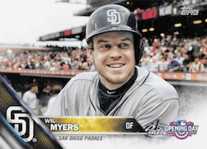 2016 Topps Opening Day Baseball Variations Wil Myers