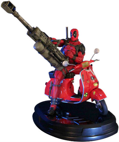 Deadpool on Vespa Statue