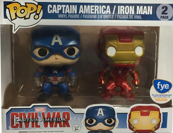 Funko Pop Captain America Civil War Iron Man 2 Pack