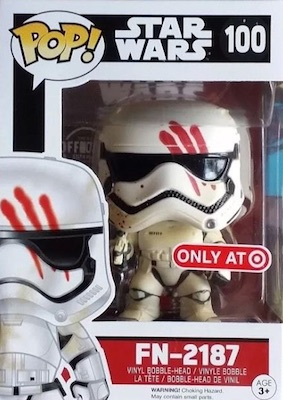 Funko Pop Star Wars The Force Awakens FN-2187 Bloody Handprint Target Exclusive