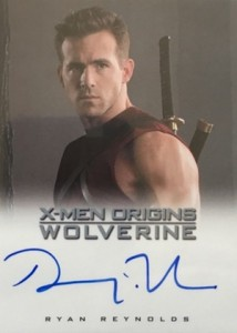 X-Men Origins Wolverine Autograph Deadpool Ryan Reynolds