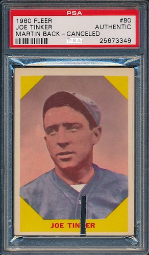New Find: 1960 Fleer Tinker/Martin-Back Rarer than T206 Wagner Hits Market 3