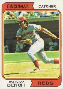 1974 Topps Johnny Bench #10