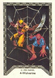 1990 Comic Images Spider-Man Team Up 4 Spider-Man Trading Cards