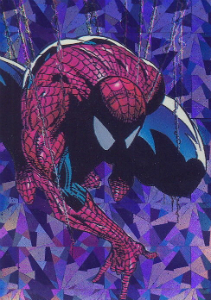 1992 Comic Images McFarlane Era Spider-Man Prism Insert Spider-Man Trading Cards