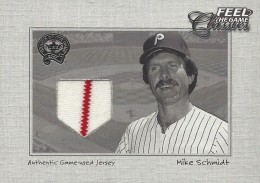 2001 Fleer Greats of the Game Classics Mike Schmidt Jersey Relic #19