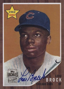 Top 10 Lou Brock Baseball Cards 7
