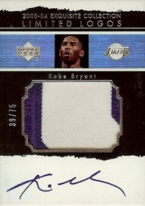 2003-04 Exquisite Collection Limited Logos Kobe Bryant