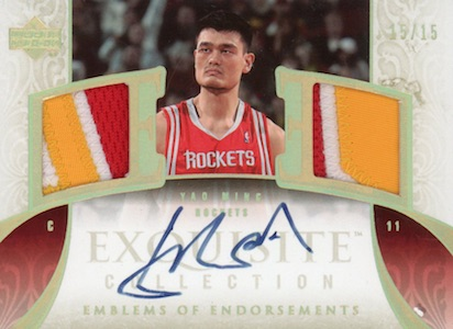 The Ming Dynasty! Top Yao Ming Basketball Cards, Rookie Cards 12