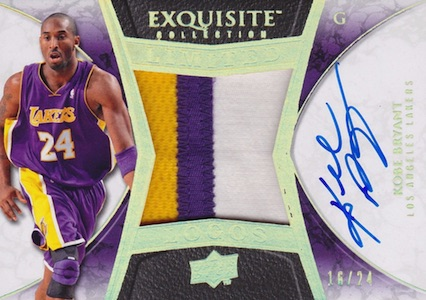 2008-09 Exquisite Collection Limited Logos Kobe Bryant