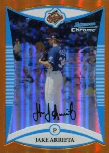 2008 Bowman Chrome Draft Picks Prospects Jake Arrieta Orange Refractor