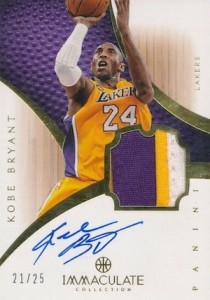 2012-13 Panini Immaculate Collection Autographed Patch Kobe Bryant