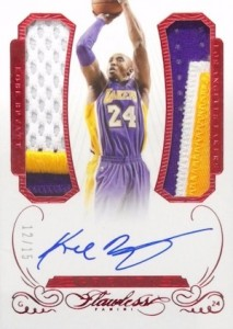 2014-15 Panini Flawless Greats Duals Ruby Kobe Bryant