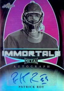 2015-16 Leaf Metal Hockey Immortals Autograph Roy