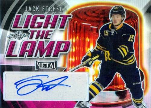 2015-16 Leaf Metal Hockey Light the Lamp Autograph Jack Eichel