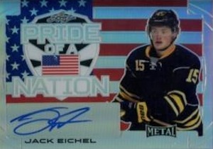 2015-16 Leaf Metal Hockey Pride of a Nation Autograph Eichel