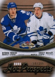 2015-16 NHL Fleer Showcase Hot Prospects Duos