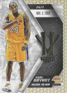 2015-16 Panini HeroVillain Kobe Bryant Basketball Unleash the Hero Gold 24