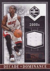2015-16 Panini Limited Basketball Decade Dominance Materials Wade