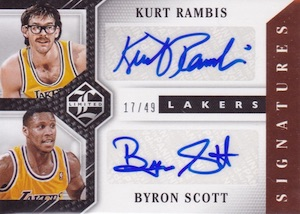 2015-16 Panini Limited Basketball Duos Signatures