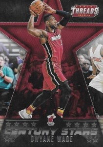 2015-16 Panini Threads Basketball Century Stars Dwyane Wade