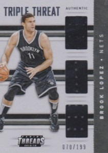 2015-16 Panini Threads Basketball Triple Threat