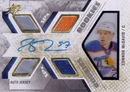 2015-16 SPx Connor McDavid RC #169 Autographed Jersey
