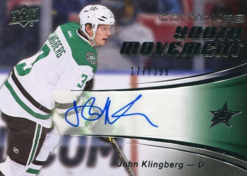 2015-16 Upper Deck Contours Hockey Youth Movement John Clingberg