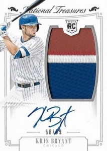 2015 Panini National Treasures Kris Bryant RC #151 Autographed Jersey