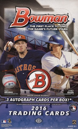 2016 Bowman Baseball Cards 45