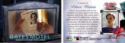 NESTOR CARBONELL Costume Card 3C1 Bates Motel Season 2 Breygent TRIPLE