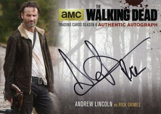2016 Cryptozoic Walking Dead Season 4 Part 1 Autographs Andrew Lincoln as Rick Grimes