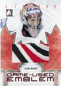 2016 In The Game The Final Vault Hockey Cam Ward Game-Used Emblem O Canada