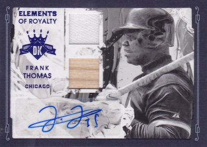 2016 Panini Diamond Kings Baseball Elements of Royalty Framed Blue Signatures Frank Thomas