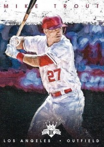 2016 Panini Diamond Kings Baseball Variations Mike Trout
