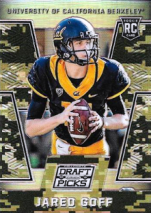 2016 Panini Prizm Collegiate Draft Picks Football Camo Jared Goff