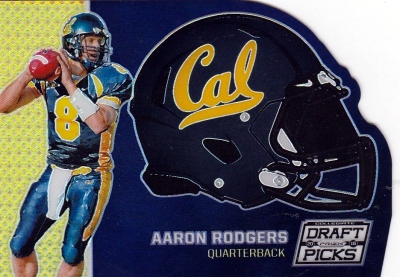 2016 Panini Prizm Collegiate Draft Picks Football Helmet Die Cut Aaron Rodgers