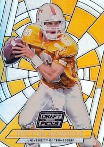 2016 Panini Prizm Collegiate Draft Picks Football Stained Glass Peyton Manning