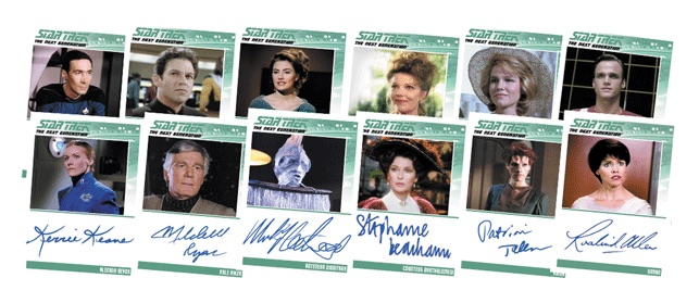 2016 Rittenhouse Star Trek The Next Generation Portfolio Prints Series 2 Base Autographs