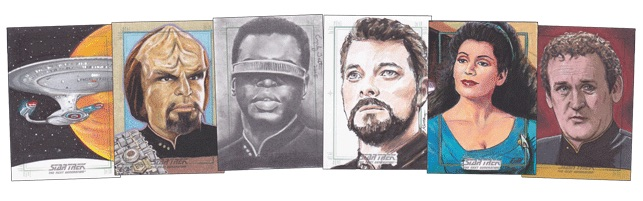 2016 Rittenhouse Star Trek The Next Generation Portfolio Prints Series 2 sketches1