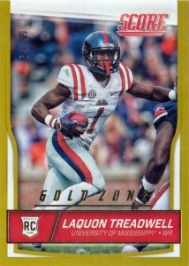2016 Score Football Gold Zone Laquon Treadwell