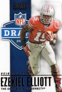 2016 Score Football NFL Draft Ezekiel Elliott