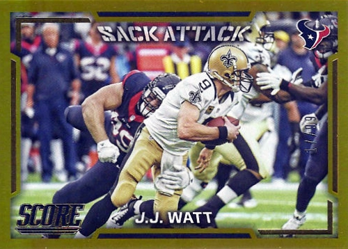 2016 Score Football Sack Attack J.J. Watt