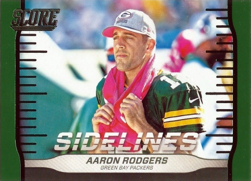 2016 Score Football Sidelines Aaron Rodgers