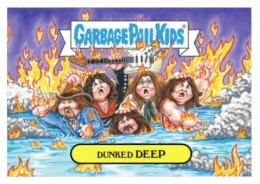 2016 Topps Garbage Pail Kids Rock Roll Hall of Shame Dunked Deep Purple